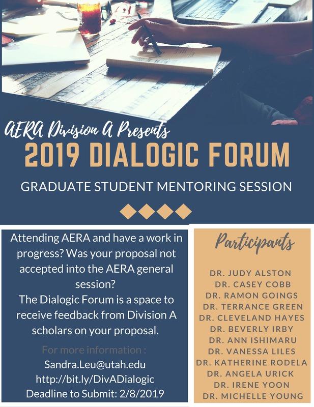 Division A Graduate Students Dialogic Forum